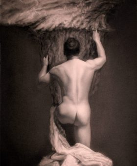 Damir May Aquilo male nude holding the storm and wind