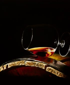 Guilty Pleasures No 2 by Damir May oil on canvas still life
